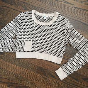 Bar III Cropped Sweater Women's Size M